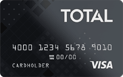 Total Visa<sup>®</sup> Unsecured Credit Card image.