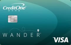 Credit One Bank Wander<sup>™</sup> Card image.