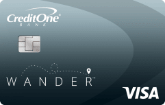 Credit One Bank Wander<sup>™</sup> Card With No Annual Fee image.