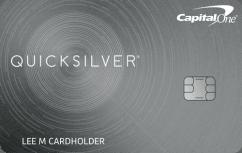 Capital One Quicksilver Cash Rewards Credit Card image.