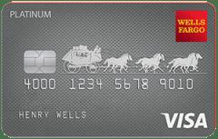 Wells Fargo Platinum card image.