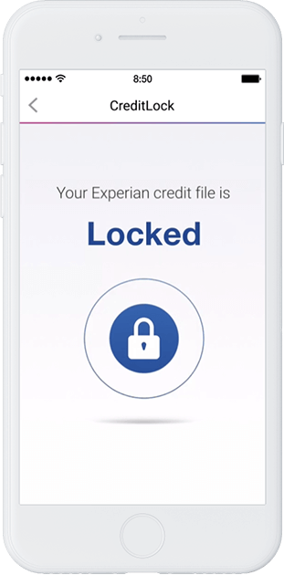 Phone showing credit lock locked
