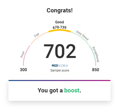 See your boost results instantly.